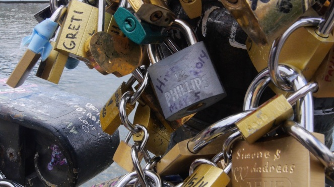 Lock on Paris's Pont des Arts