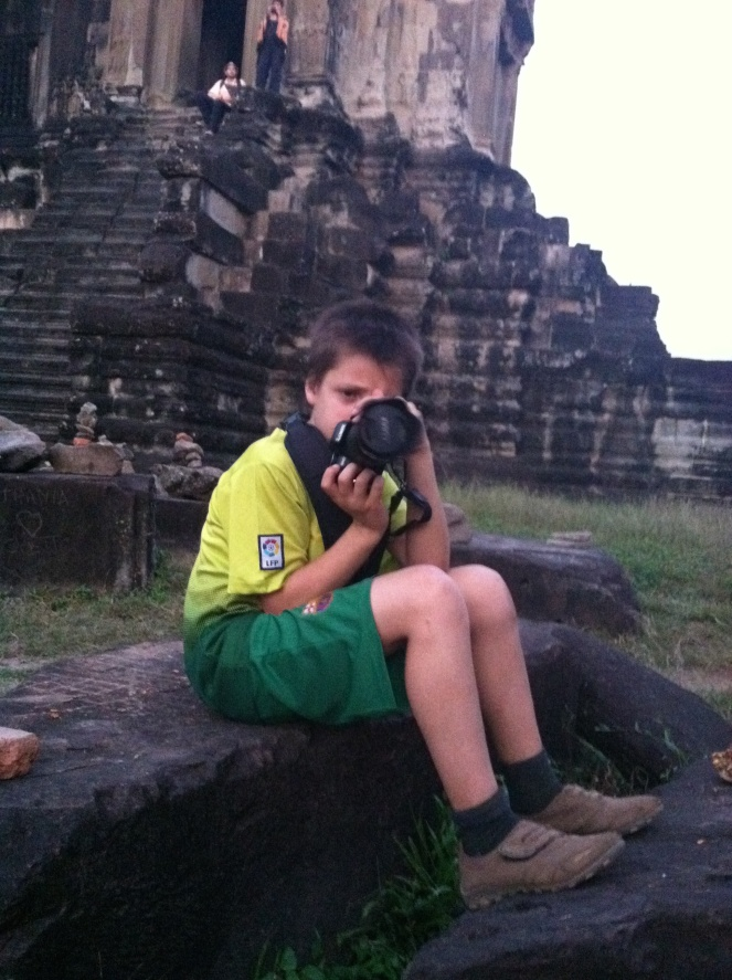 trent with camera