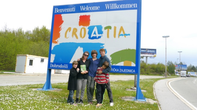 Family sign Croatia