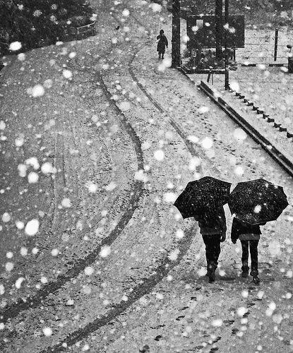 couple snow